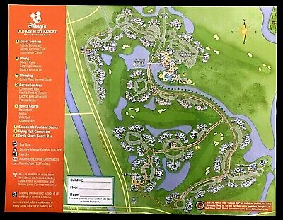 NEW 2020 Walt Disney World Old Key West Resort Map + 5 Theme Park Guide Maps