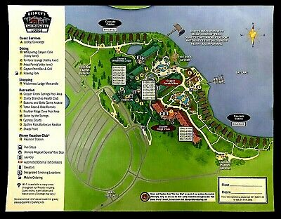 NEW 2020 Walt Disney World Wilderness Lodge Map + 5 Theme Park Guide Maps
