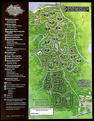 NEW 2020 Walt Disney World Fort Wilderness Resort Map + 5 Theme Park Guide Maps