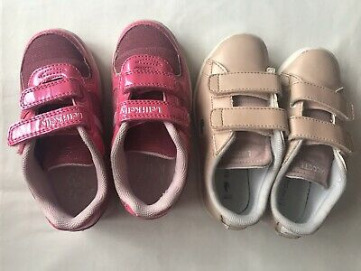 Girls 2 Pairs Trainers - Lacoste & Lelli Kelly Size 9 Infant
