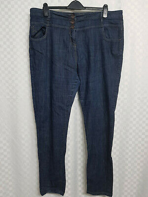 Ladies NEXT High Rise Skinny Jeans Size 22 W40 L31 Blue Mid Wash Stretch Pockets