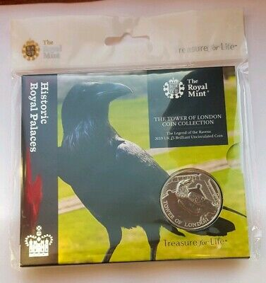 2019 Royal Mint Tower of London, Legend of the Ravens £5 Five Pound BU Coin Pack