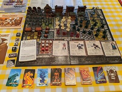 Vintage Hero Quest Board Game Milton Bradley 100% Complete Excellent 1989-90