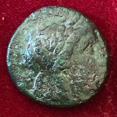 Antiochus I (Seleucid King)  Bronze Coin. Ancient Greek coin.