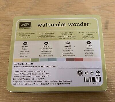 stamping up water colour wonder watercolour crayon markers