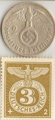 *5-stamps of *WW2- DICTATORS + *german  SILVER EAGLE coin
