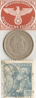 -*WW2  STAMPS  and coins  of  - DICTATORS + *german  SILVER EAGLE coin