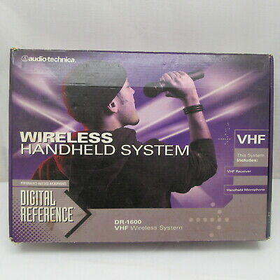 Audio-Technica DR-1600 Handheld Dynamic Microphone System Wireless System New