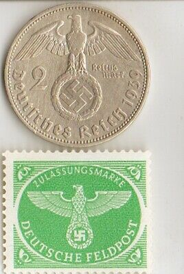 -COLLECTION  of *WW2  STAMPS  of  - DICTATORS + *german  SILVER EAGLE coin