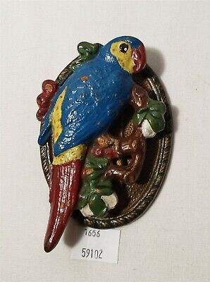 LMAS ~ Cast Iron Macaw Parrot Door Knocker Hubley?