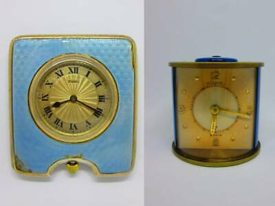 Lot Of Two Rare High Grade 8 Days Travel Clocks - Both Overhauled