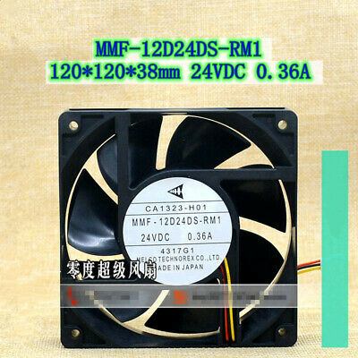 For MITSUBISHI CA2235H25 MMF-12F24DS-CP1 Inverter cooling fan 24V 120mm 3wire