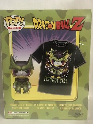 Funko POP! & Tee: Dragon Ball Z Perfect Cell Metallic POP - T-Shirt LARGE - NEW!