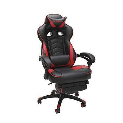 RESPAWN 110 Racing Style Gaming Chair, Reclining Ergonomic Leather Chair Red