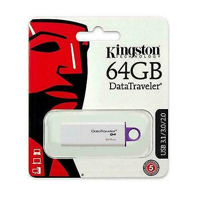 Kingston USB Memory Stick 64GB 16GB 8GB 4GB USB 3.0 Data Traveler G4 Flash Drive