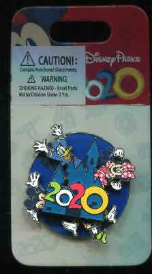 Disney Parks Dated 2020 Fab 4 Spinner Mickey Goofy Minnie Donald Disney Pin