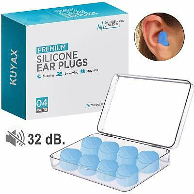 Ear Plugs for Sleeping, Reusable Silicone Moldable Noise Cancelling Sound Blocki
