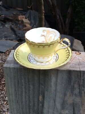 Vintage Aynsley English Bone China Coffee Cup And Saucer