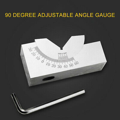 Precision Gauge Adjustable Angle V Block Milling Setup 0-60 Degree Angle Block