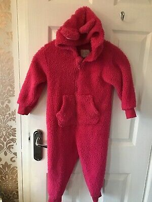 Girls Pink Fleece All In One Age 3-4 Years