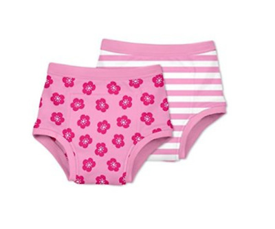 2 pack Green Sprouts Girls Washable Potty Training Pants Underwear Pink 18m-4yrs