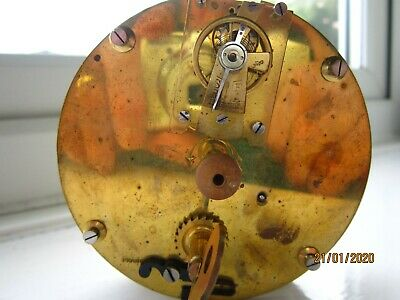 French Barrel Clock Movement with Platform Escapement .Good working order.
