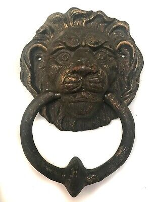 Cast Iron Lions Head Vintage Door Knocker Lion Home Art Decor