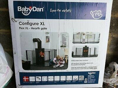 BabyDan Hearth Gate/Room Divider (Extra Large, 90-278cm, Black)
