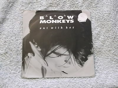 """Blow Monkeys:  Out with her    7"""" BRAND NEW VINYL EX SHOP"""