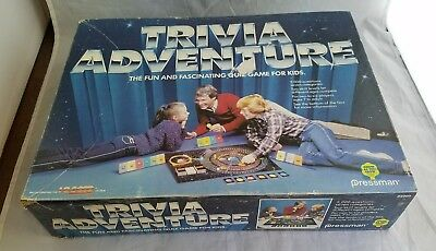 Vintage 1983 Trivia Adventure Family Board Game Complete by Pressman