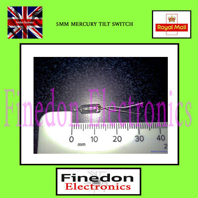 Glass 5mm Mercury Switch Angle Tilt Switches UK Seller