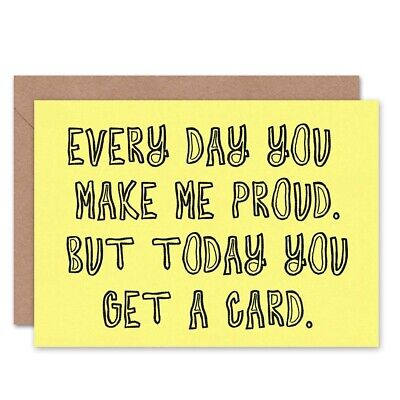 Every Day Proud Son Daughter Birthday Blank Greeting Card With Envelope