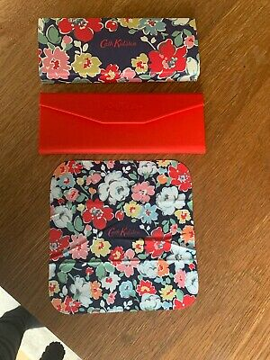 New CATH KIDSTON Red/Floral Triangular Glasses case,cleaning cloth and sleeve