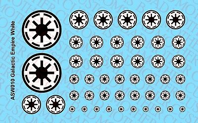 Star Wars Mandalorian Empire Republic Waterslide Decals 1//18 Scale Tattoos