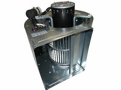 Direct Drive 9/9 Blower & Flange 370W 3 Speed 3300m3/h Airflow Take Away Canopy