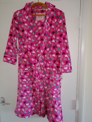 Girls Monsoon Dressing gown age 12-13 with hood and belt