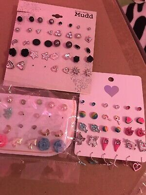 HUGE WHOLESALE LOT OF 70 PAIRS *MUDD The Children's Place STUD EARRINGS  Nwt's