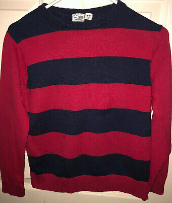 Children's Place Red/Dark Blue Boys Sweater Medium  7/8