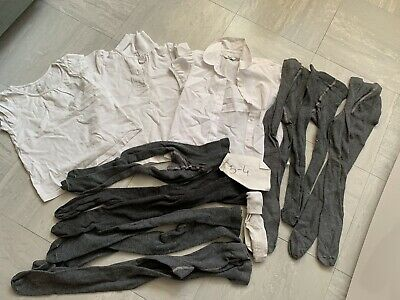 school uniform bundle, Grey Tights And White Tops, Size 3-4 years,Girl