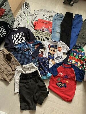 Huge Bundle Of Boys Clothes Size 4-5 Years, included trespass coat and shoes