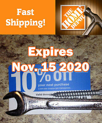 20 Lowes 10% discount for Home Depot only exp November 15 2020