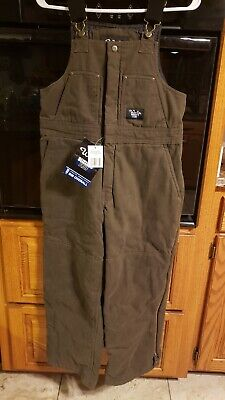 Walls Youth Blizzard Pruf Insulated Brown Bibs Overalls Xl