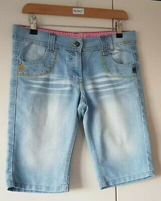 Cherokee Girls Teen Shorts Denim Age 12-13 Years Light Wash Knee Length Summer