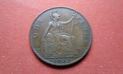 One Penny 1932 George V Coin High Grade