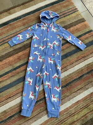 M&S Marks Spencer All In One Pyjamas Sleepsuit Unicorns Age 7-8