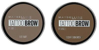 Maybelline Tattoo Brow Pomade - 01Taupe/03Medium Brown Waterproof,Lasting color