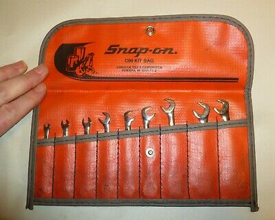 Snap On Tools 9 Pc Ignition 4 Way Angle Head Open Wrench Set C90