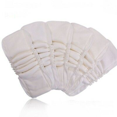 Washable Reusable 5 Layer Pad Baby Diaper Insert Liner Nappy Safety Cotton New