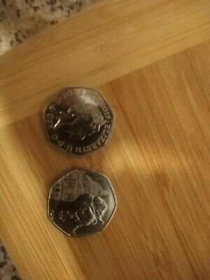 RARE 50p 2019 Paddington Bear Tower of London and St Paul's Cathedral coins.