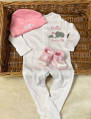 Baby Girl Birthday Outfit WITH Matching Pyjamas Pjs Girls Pink Mouse Gold Set